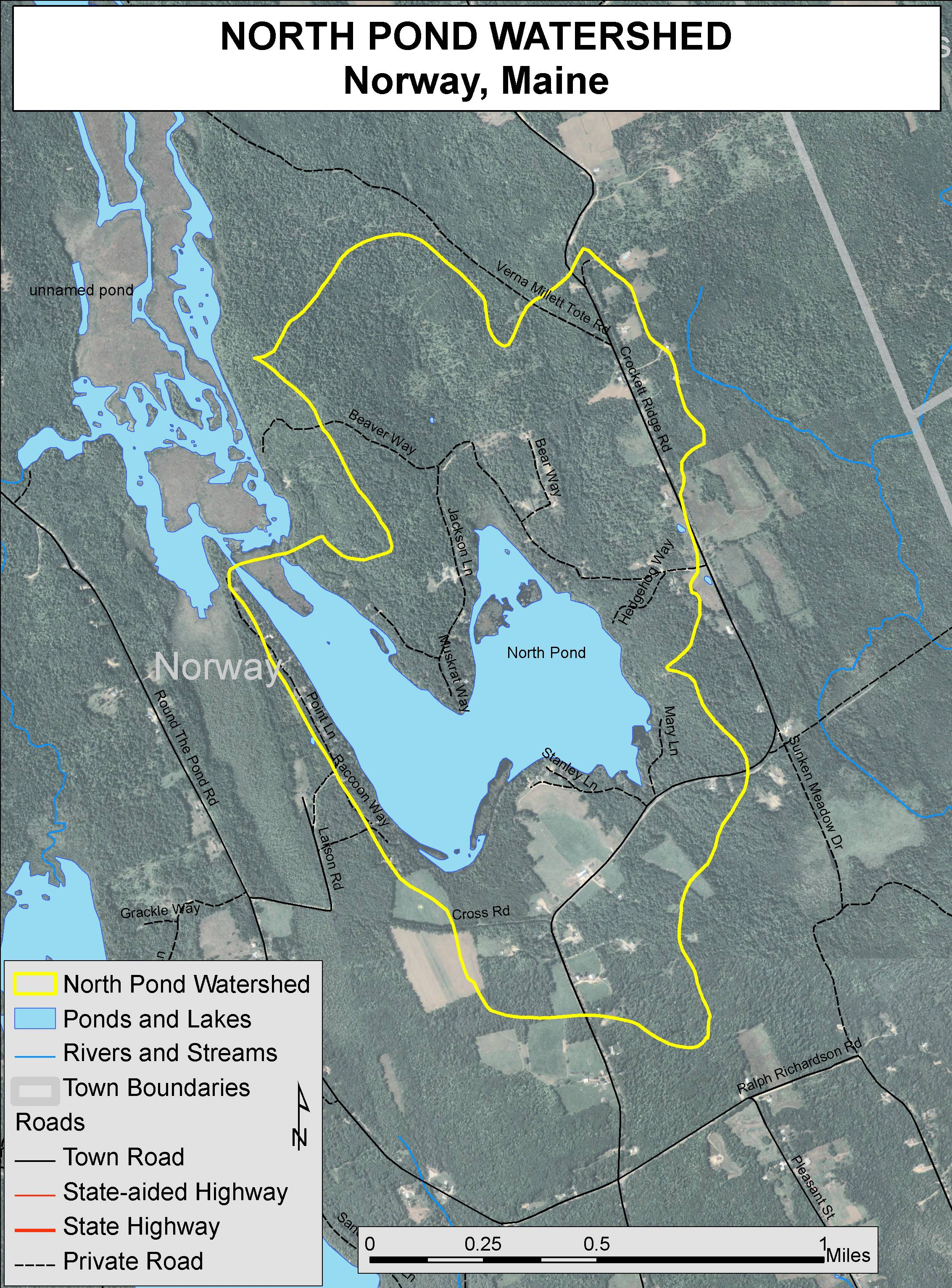 Lakes Of Maine Lake Overview North Pond Norway Oxford Maine - Norway lakes map