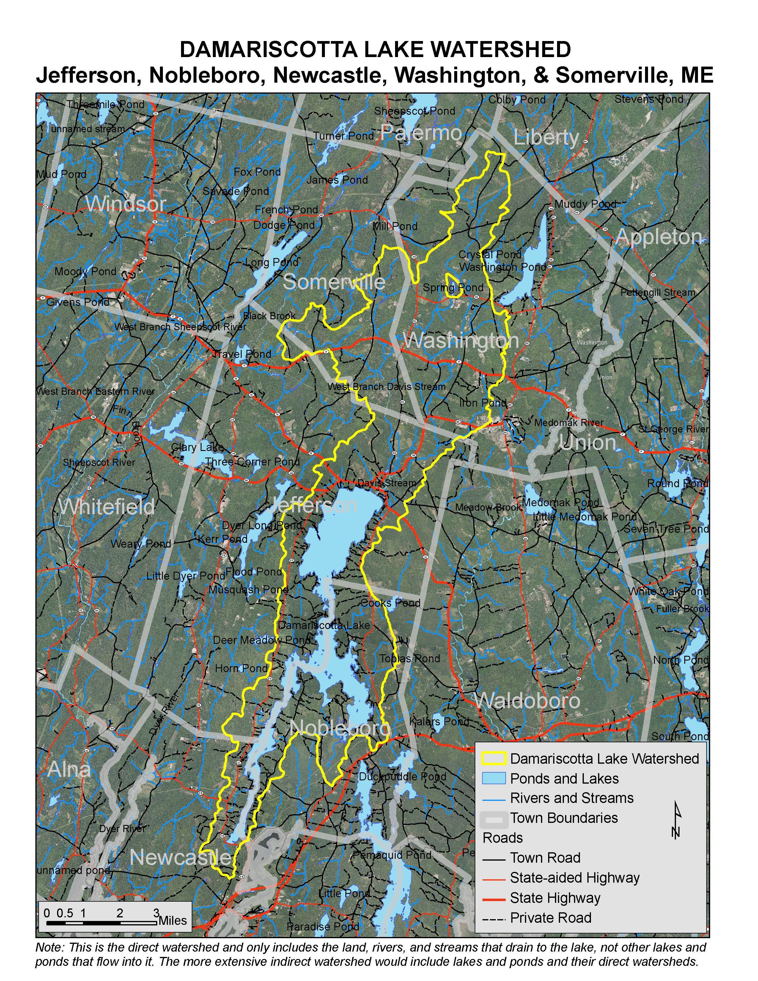 Lakes Of Maine Lake Overview Damariscotta Lake Jefferson - Maine lakes map