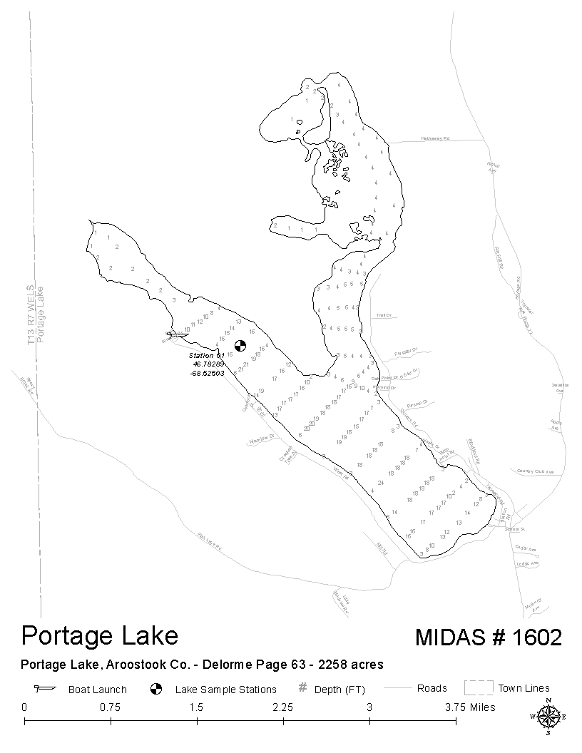 Lakes Of Maine Lake Overview Portage Lake Portage Lake - Maine lakes map