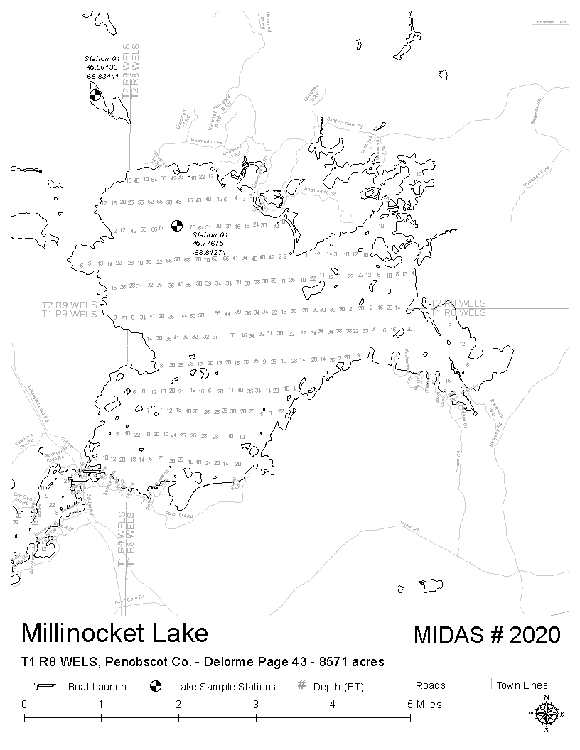 Lakes of Maine - Lake Overview - Millinocket Lake - T1 R8 ...