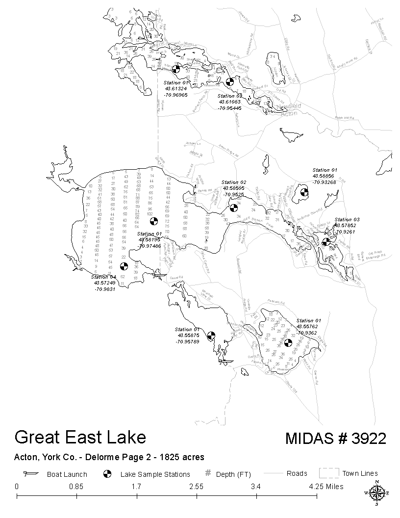 lakes of maine - water quality - great east lake
