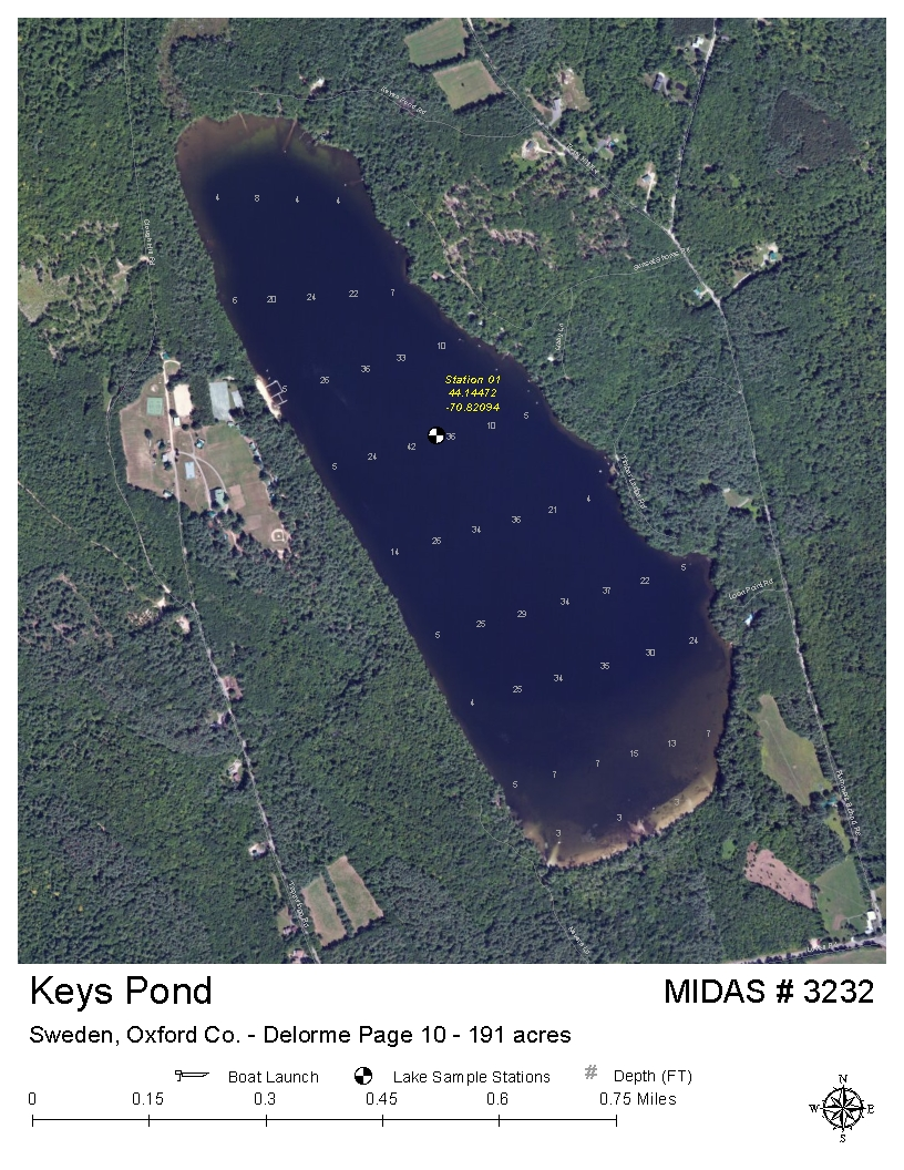 Lakes Of Maine Lake Overview Keys Pond Sweden Oxford Maine - Sweden maine map