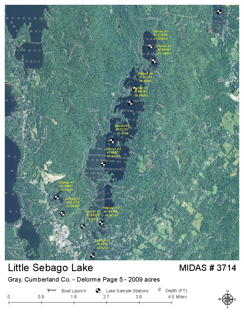 lakes of maine  lake overview  little sebago lake  gray  - map data