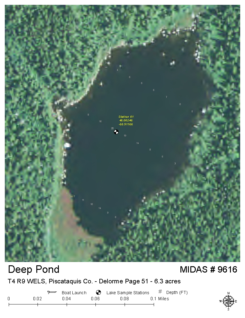 Lakes Of Maine Lake Overview Deep Pond T4 R9 Wels