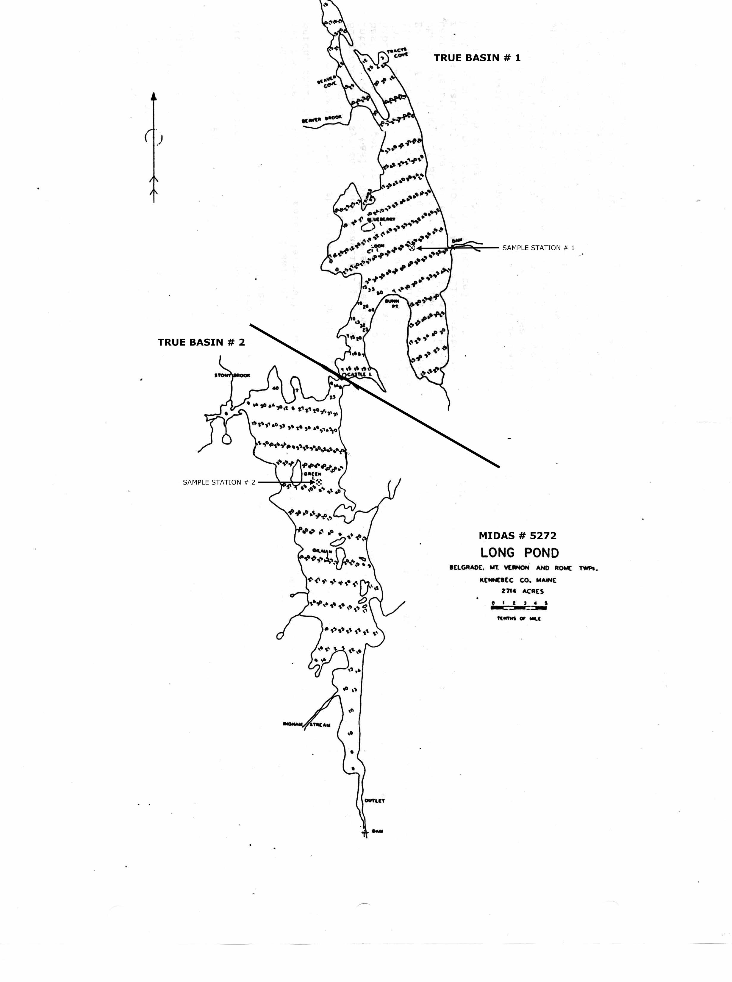 Map Of Maine Lakes.Lakes Of Maine Lake Overview Long Pond Belgrade Mount Vernon