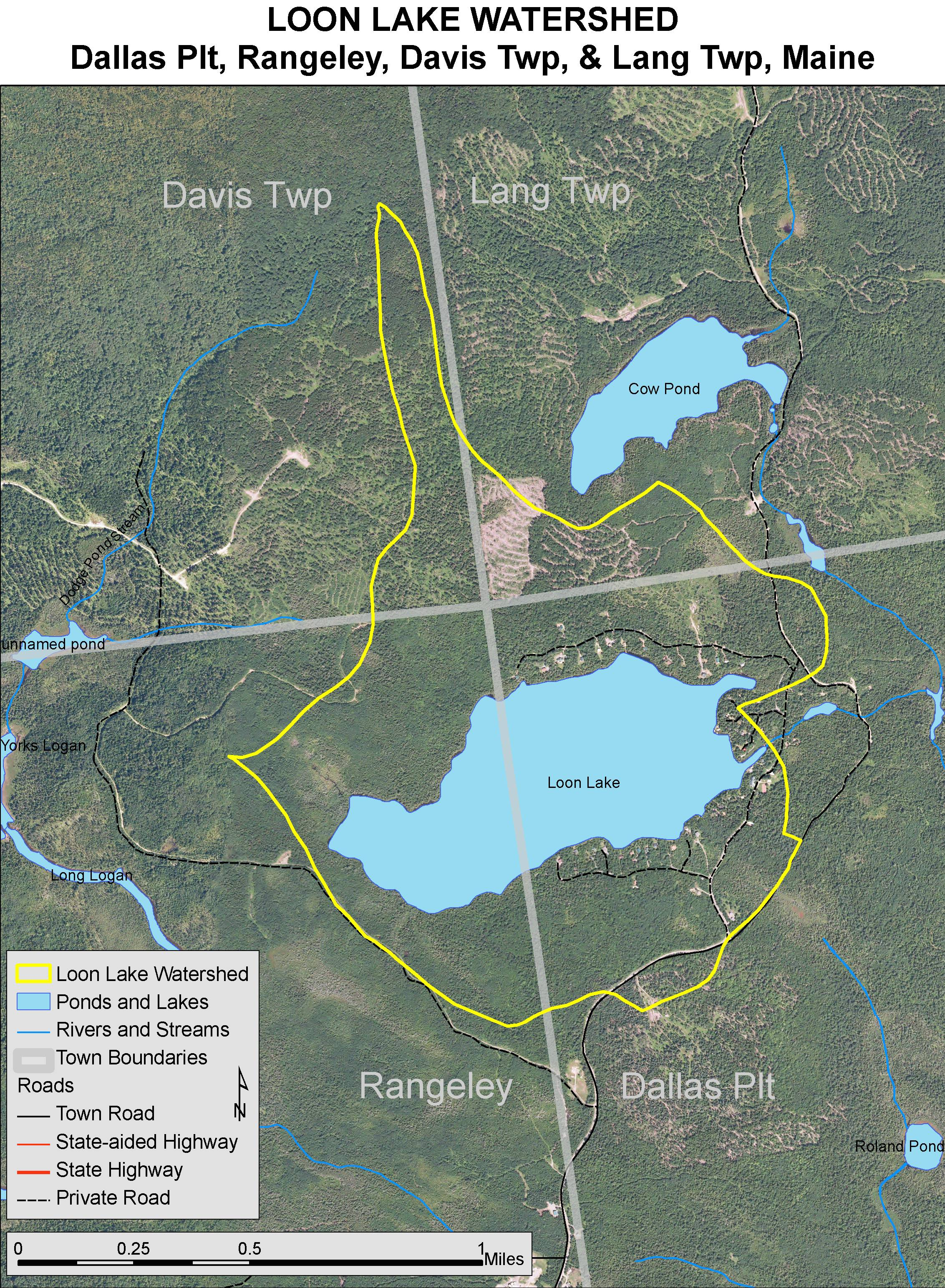 Dallas Lakes Map on