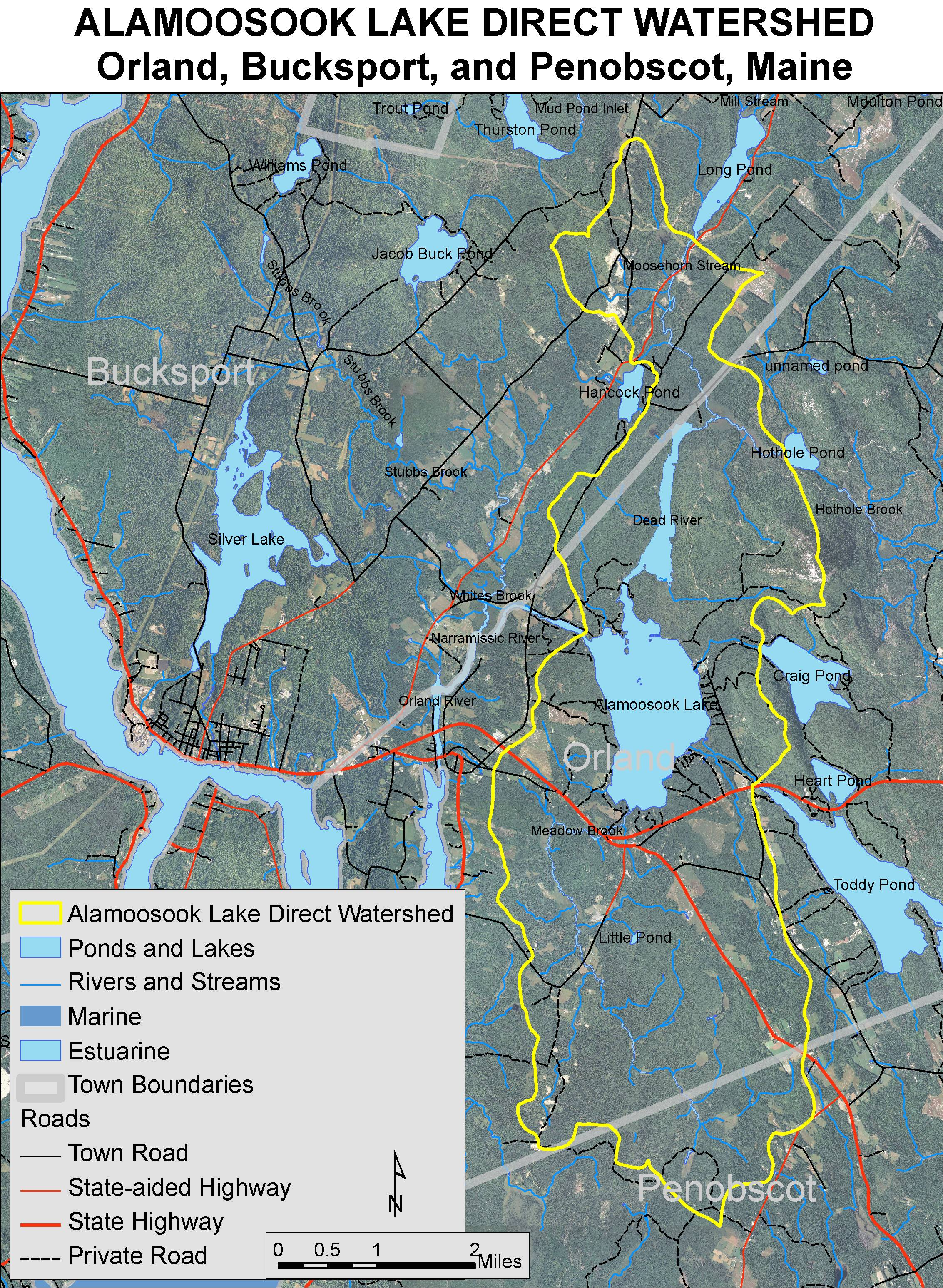 Orland Maine Map.Lakes Of Maine Lake Overview Alamoosook Lake Orland Hancock