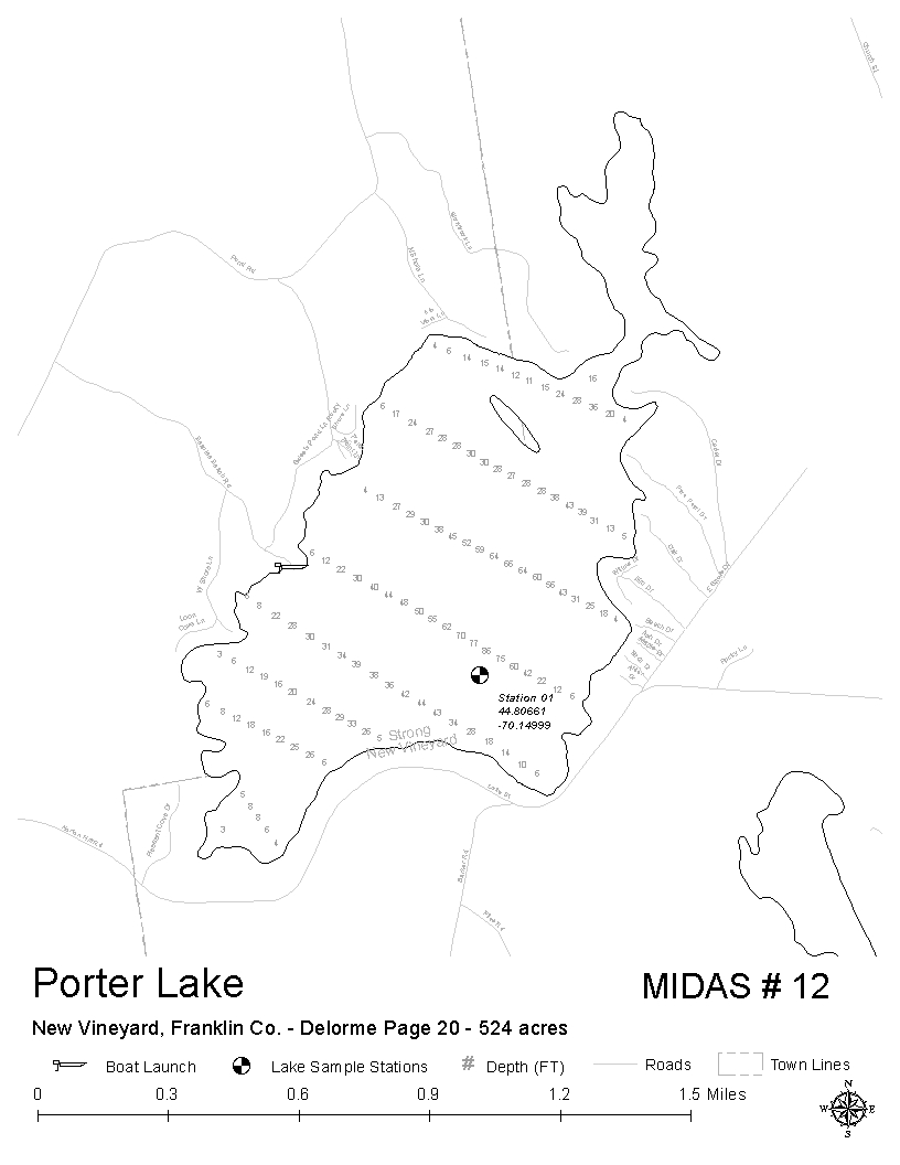 Porter Maine Map.Lakes Of Maine Lake Overview Porter Lake New Vineyard Strong