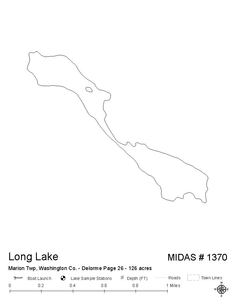 Lakes of Maine - Lake Overview - Long Lake - Marion Twp, Washington