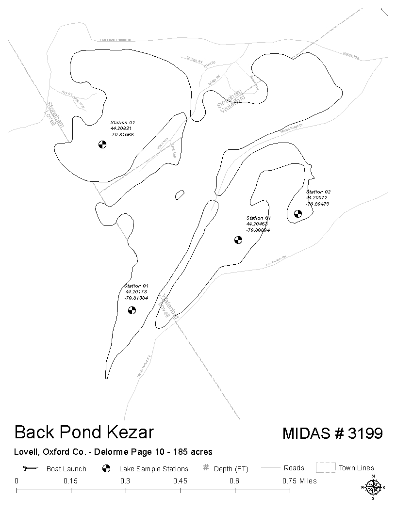 Lakes of Maine - Lake Overview - Back Pond Kezar (Five Kezar Ponds