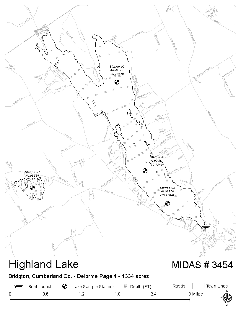 Map Of Maine Lakes.Lakes Of Maine Lake Overview Highland Lake Bridgton