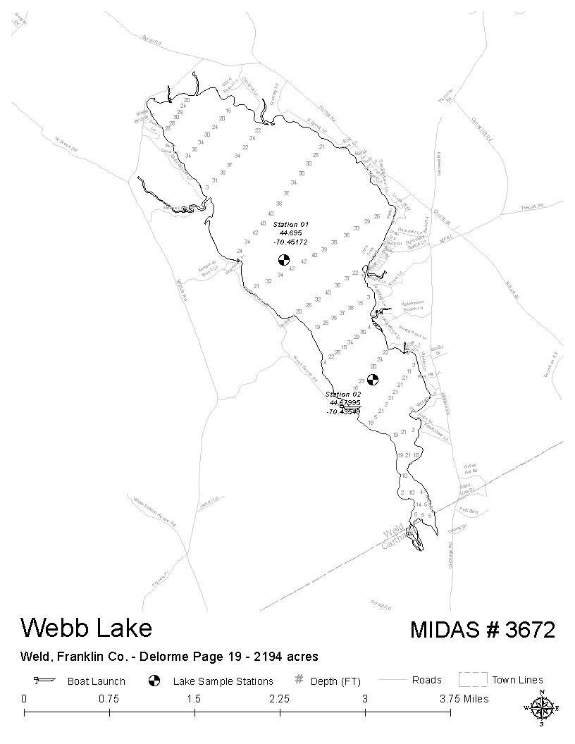 Lakes Of Maine Lake Overview Webb Weld Lake Carthage Weld