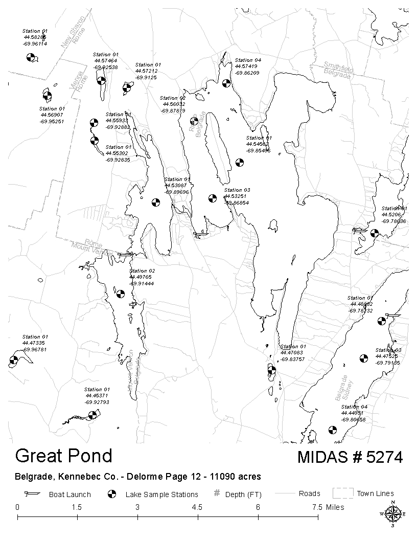 Lakes Of Maine Lake Overview Great Pond Belgrade Rome