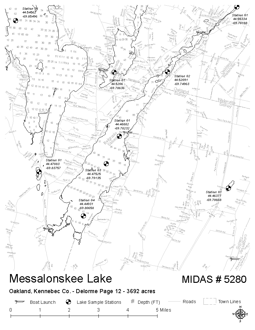 Lakes Of Maine Lake Overview Messalonskee Lake Snow Pond