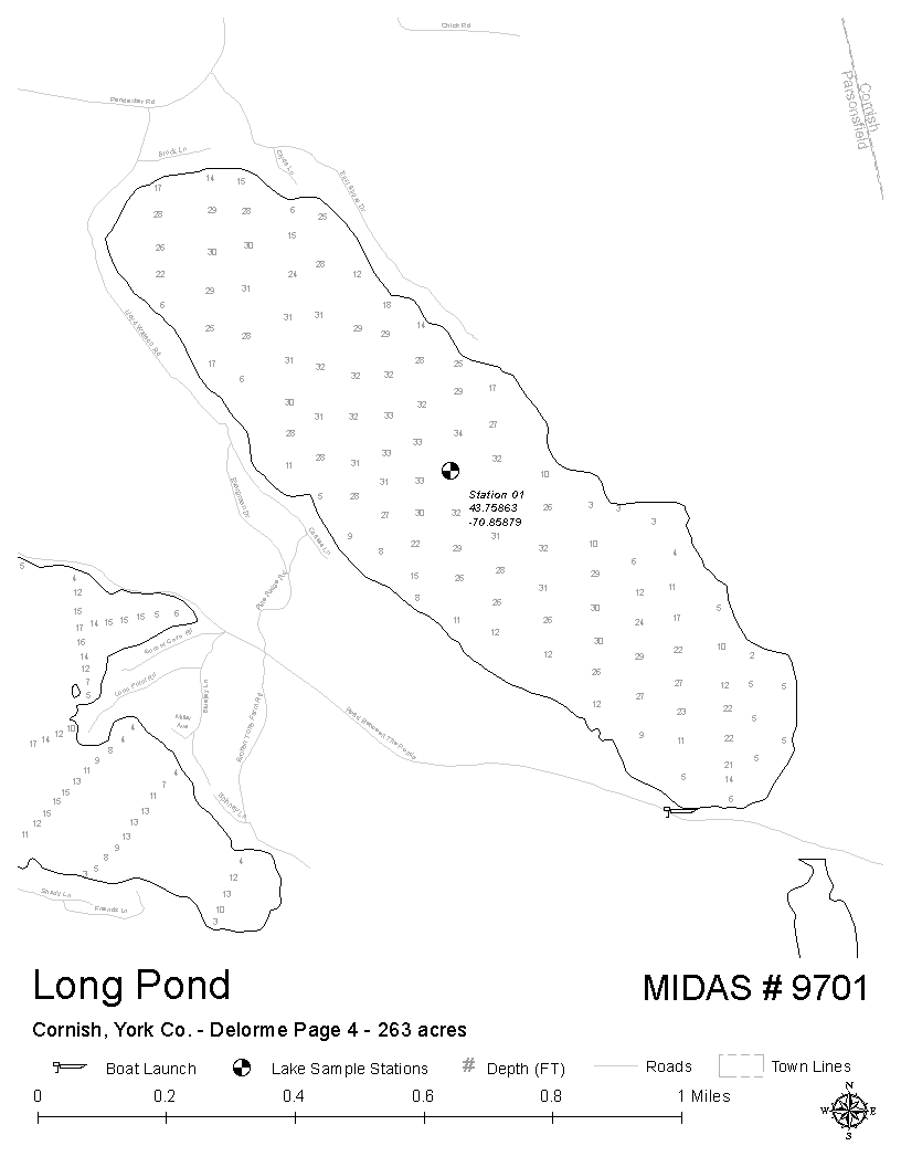 Parsonsfield Maine Map.Lakes Of Maine Lake Overview Long Pond Parsonsfield York Maine