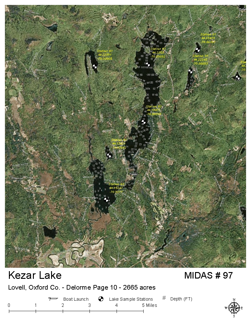 Lovell Maine Map.Lakes Of Maine Lake Overview Kezar Lake Lovell Stow Oxford