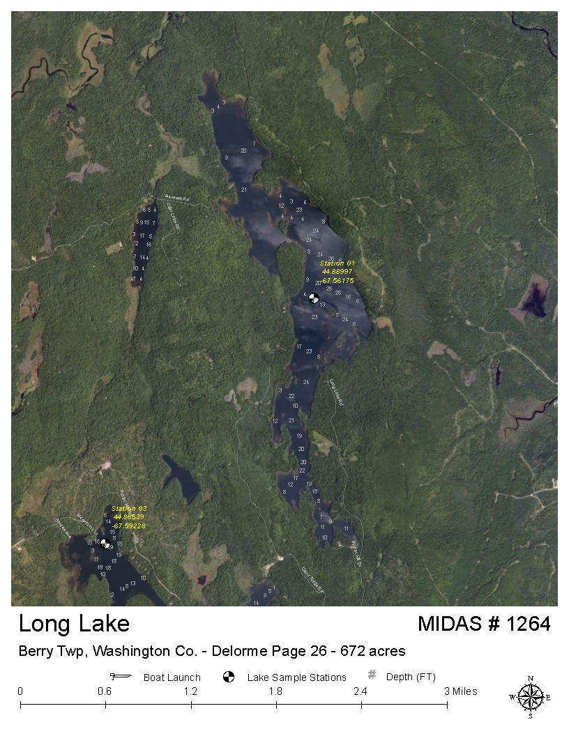 Lakes Of Maine Lake Overview Long Lake Northfield Wesley T18