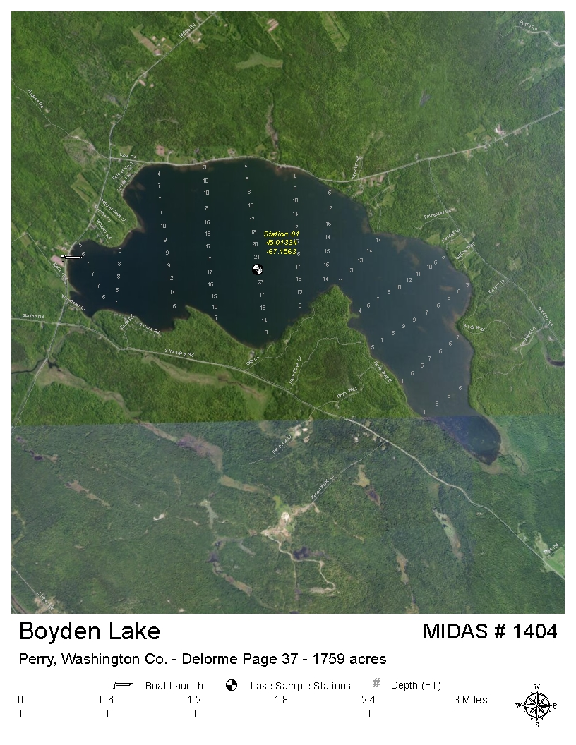 Perry Maine Map.Lakes Of Maine Lake Overview Boyden Lake Perry Robbinston