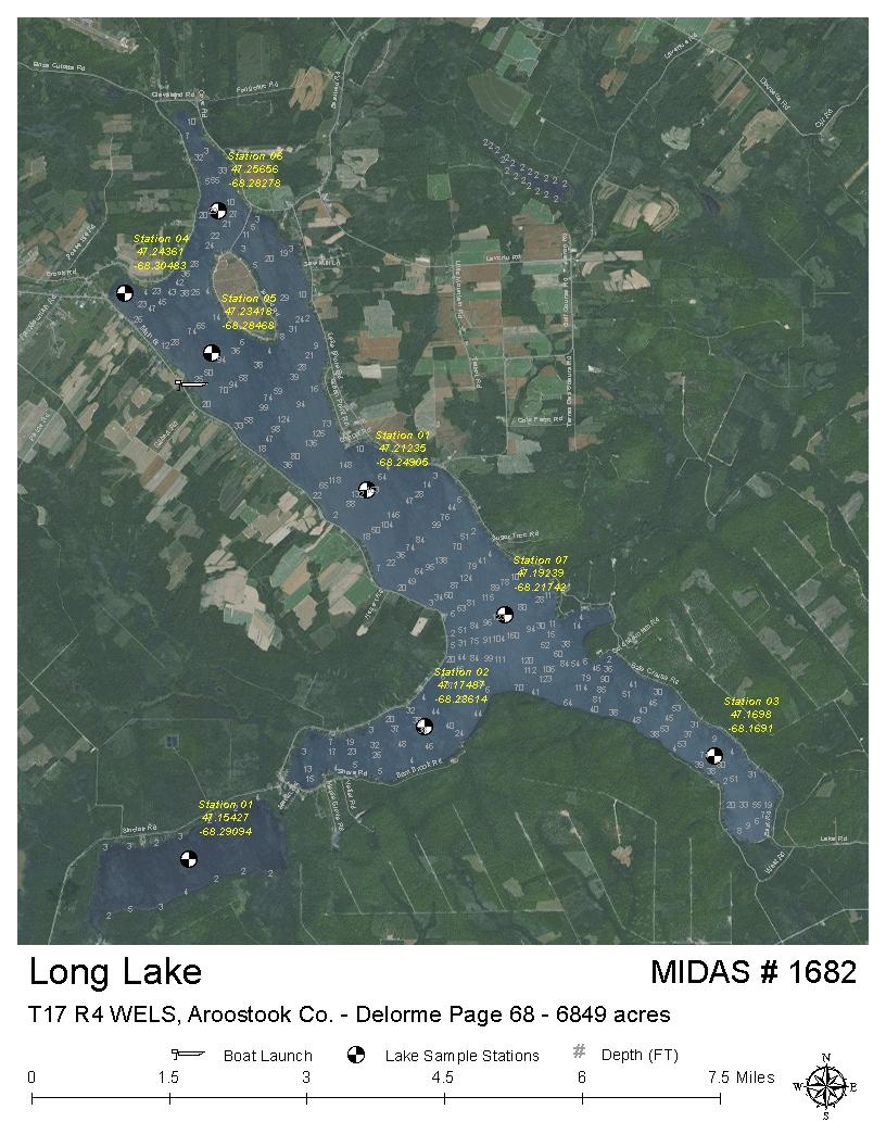 Lakes Of Maine Lake Overview Long Lake Saint Agatha T17 R3