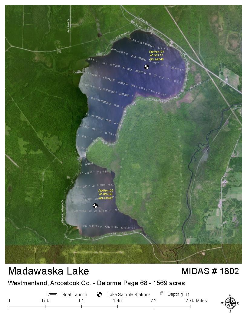 Lakes Of Maine Lake Overview Madawaska Lake Westmanland T16