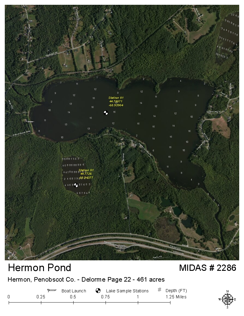 Hermon Maine Map.Lakes Of Maine Lake Overview Hermon Pond Hermon Penobscot Maine