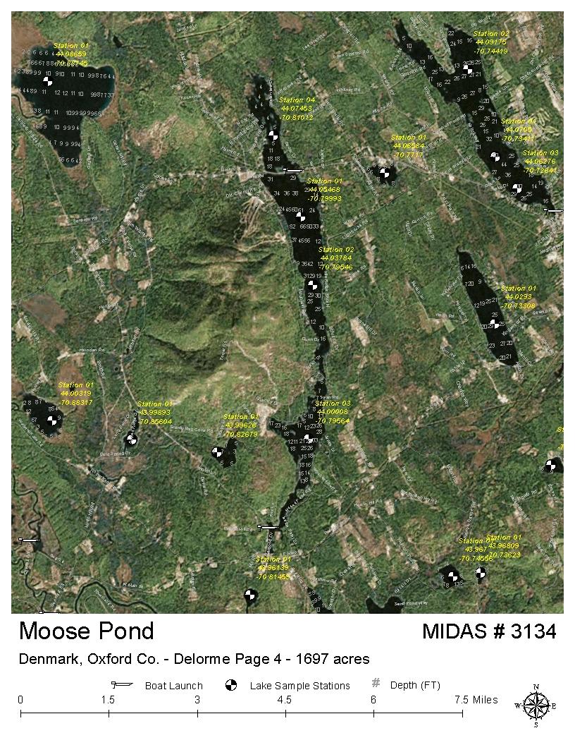 Lakes Of Maine Lake Overview Moose Pond Bridgton Denmark