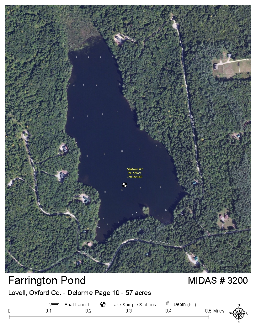 Lovell Maine Map.Lakes Of Maine Lake Overview Farrington Pond Lovell Oxford Maine