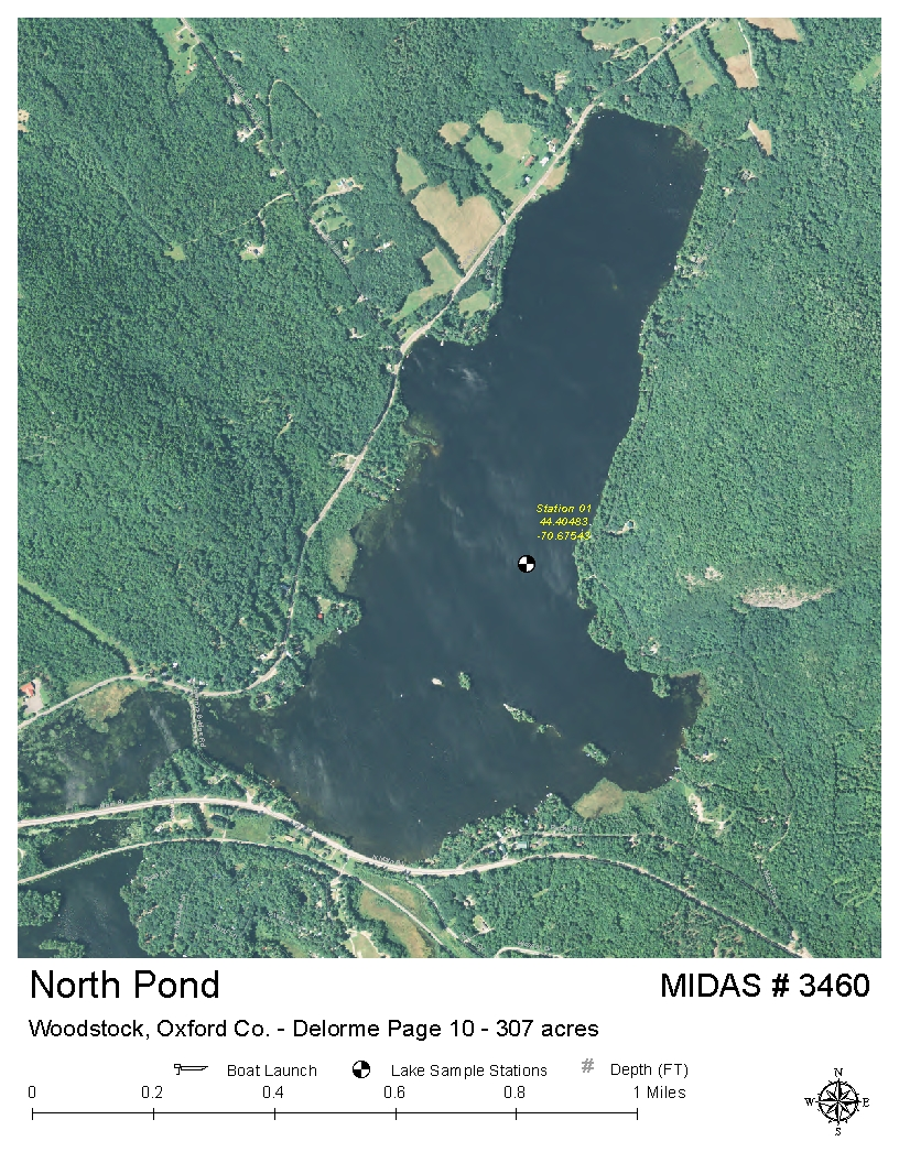 Lakes Of Maine Lake Overview North Pond Greenwood Woodstock
