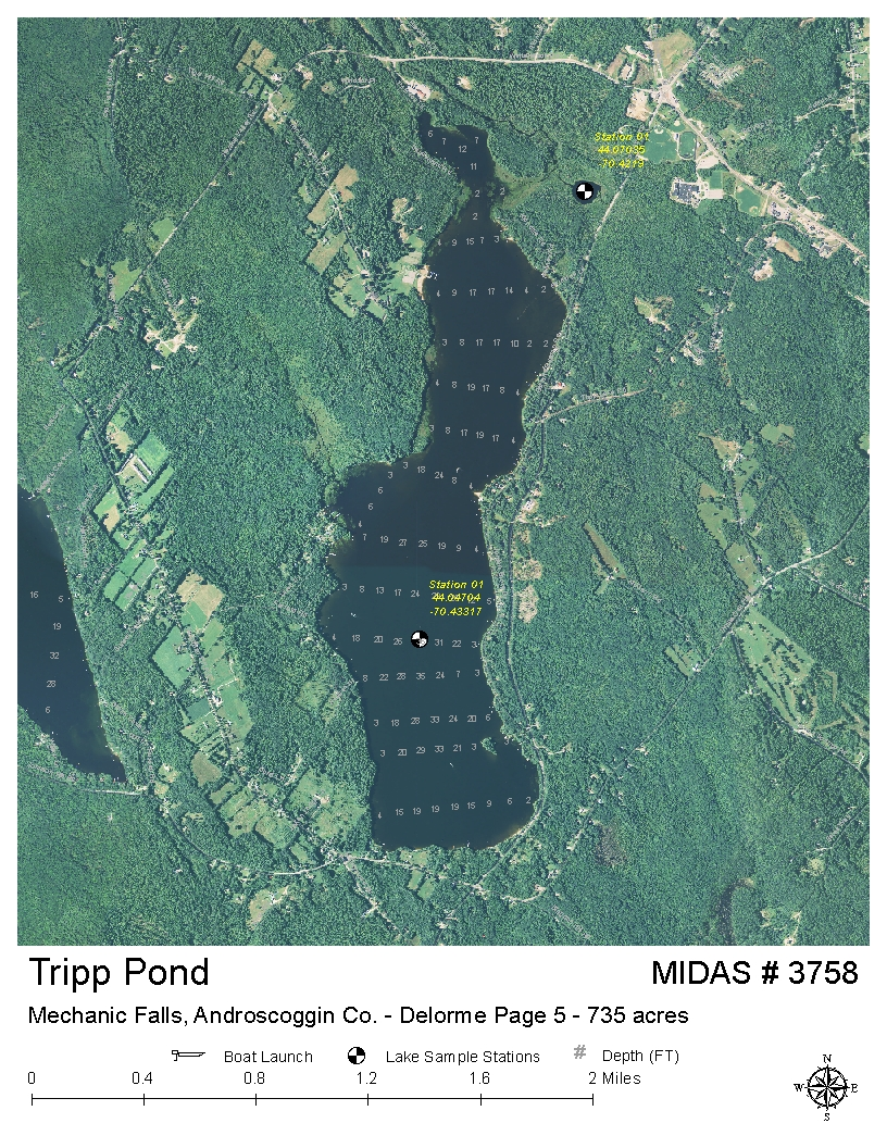 Poland Springs Maine Map.Lakes Of Maine Lake Overview Tripp Pond Poland Androscoggin