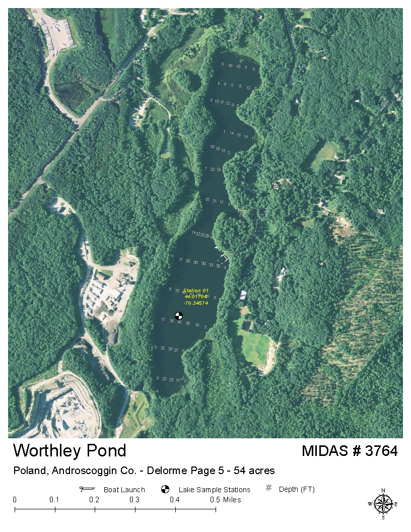 Lakes Of Maine Lake Overview Worthley Pond Poland