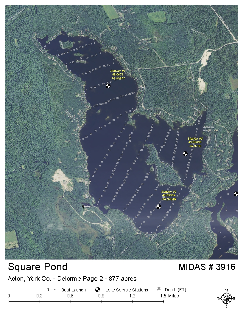 Lakes Of Maine Lake Overview Square Pond Acton Shapleigh
