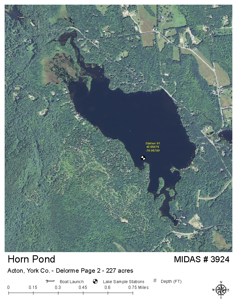Lakes Of Maine Lake Overview Horn Pond Acton York Maine