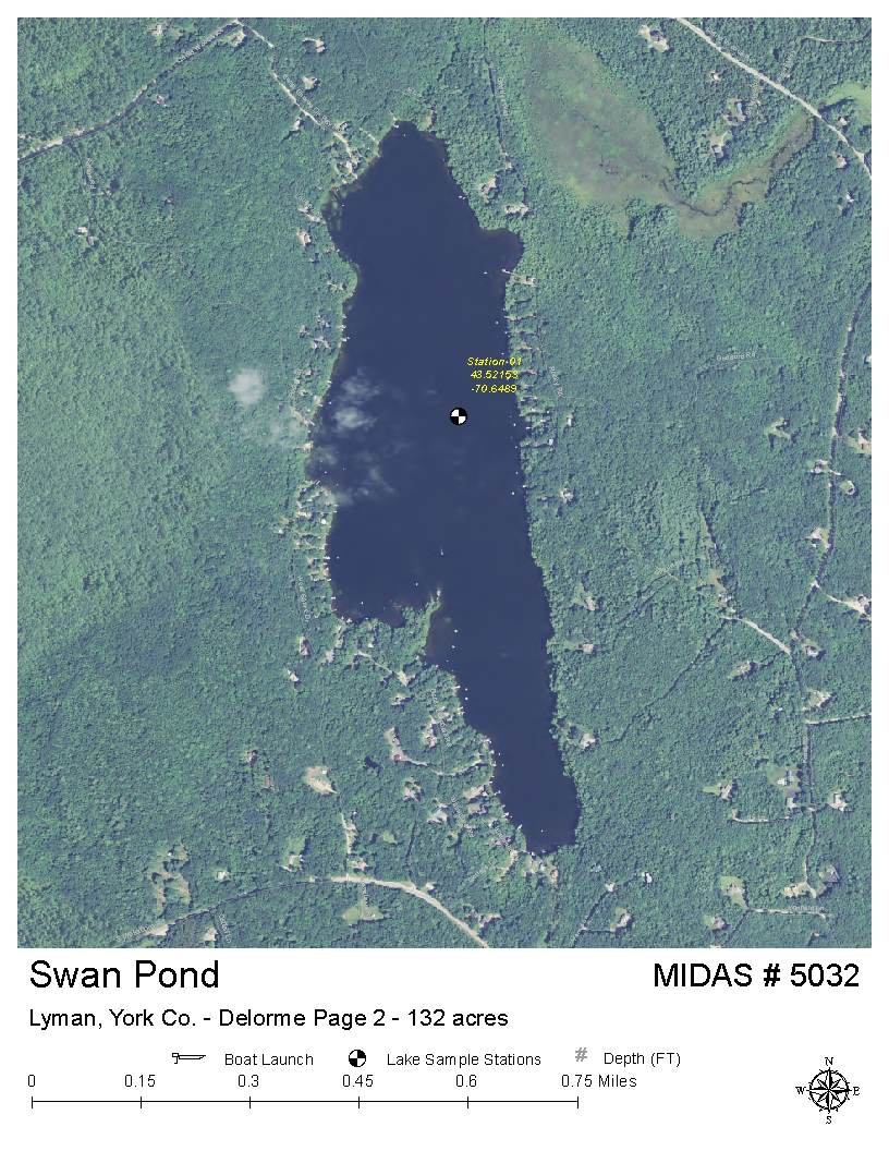 Lyman Maine Map.Lakes Of Maine Lake Overview Swan Pond Lyman York Maine