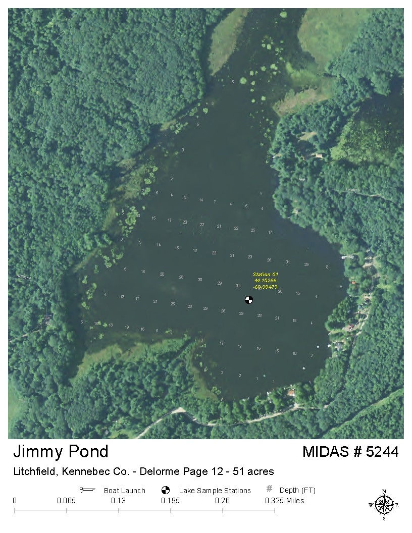 Litchfield Maine Map.Lakes Of Maine Lake Overview Jimmy Pond Litchfield Kennebec