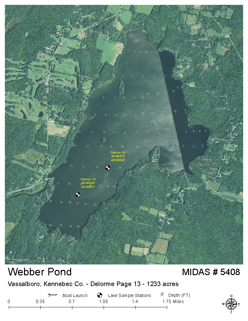 Lakes of Maine   Lake Overview   Webber Pond   Vassalboro