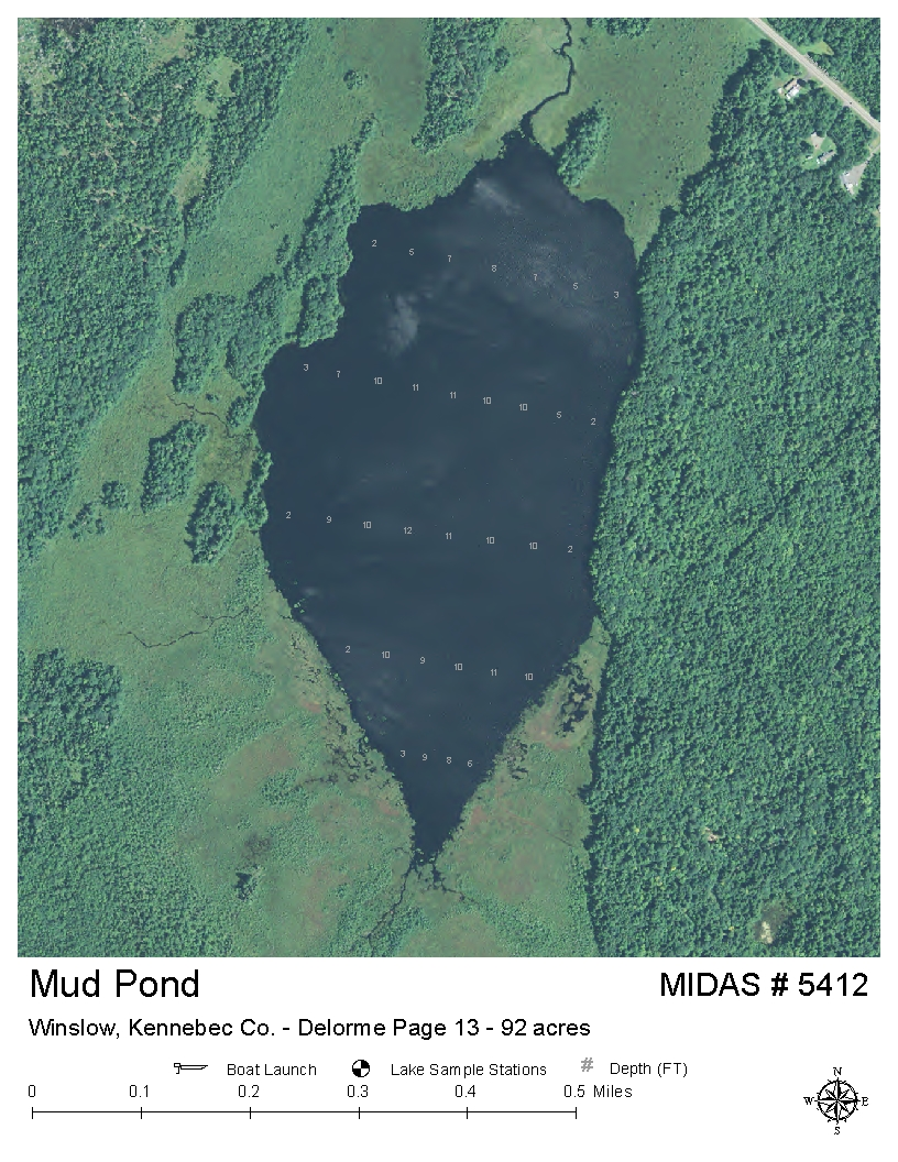 China Lake Maine Map.Lakes Of Maine Lake Overview Mud Pond China Winslow Kennebec